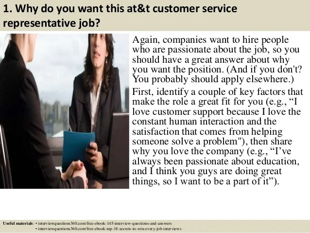 interview answers for customer service representative