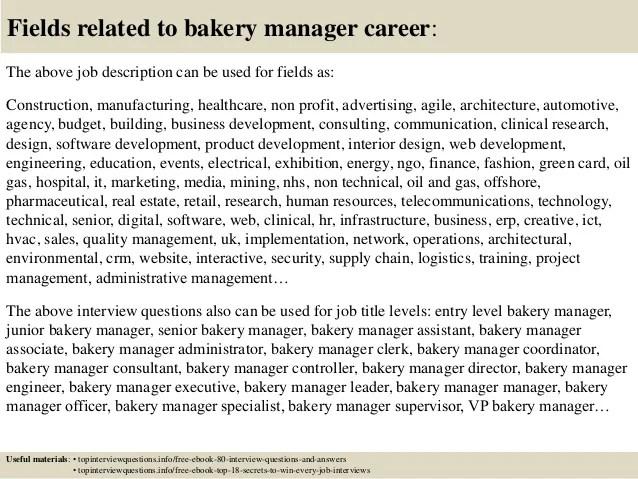 bakery manager job description - Ozilalmanoof - bakery manager resume