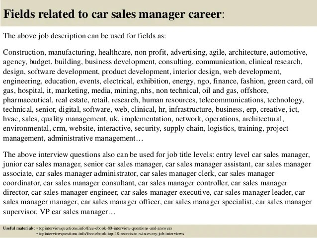Job Description Of A Car Salesman - livmoore.tk