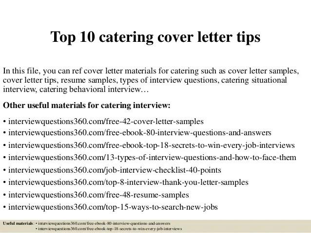 catering resume - Goalgoodwinmetals