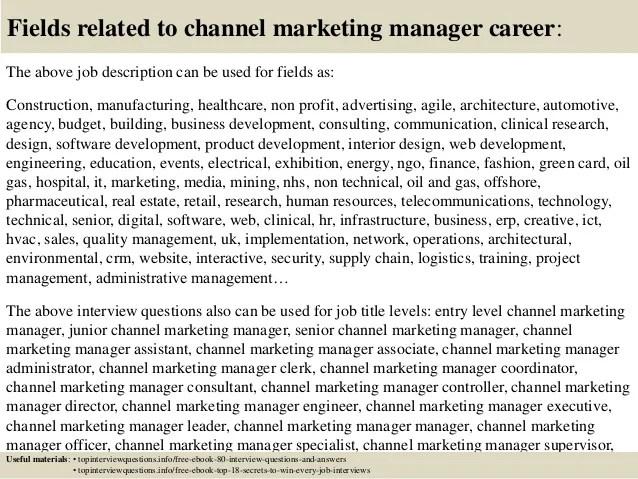 digital marketing dictionary 3 dictionary digital marketing - channel marketing manager sample resume