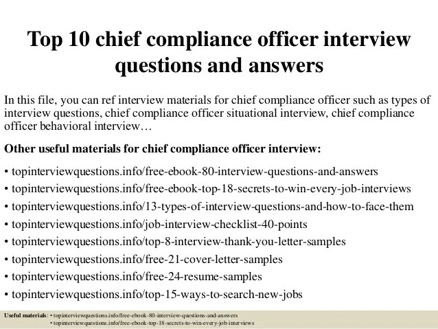chief compliance officer resume - Minimfagency