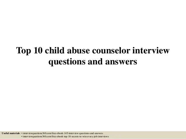 School Counselor Job Interview Questions And Answers dnio