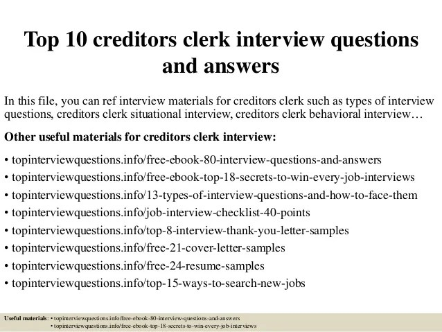 accounts clerk interview questions and answers