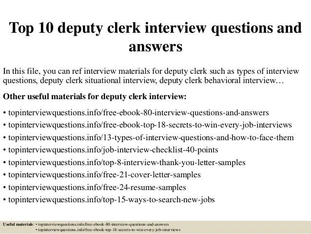 deputy clerk cover letter - Ozilalmanoof - weather clerk sample resume