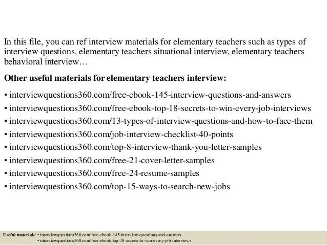 elementary interview questions - Goalgoodwinmetals - interview questions for teachers