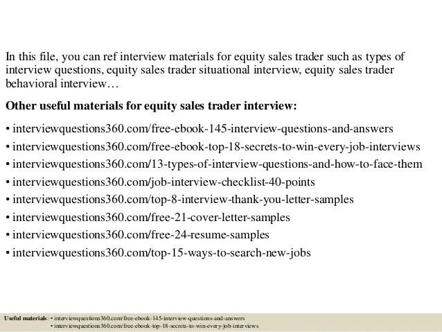equity trader cover letter - Pinarkubkireklamowe