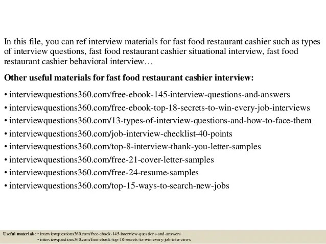restaurant job interview questions and answers - Ozilalmanoof