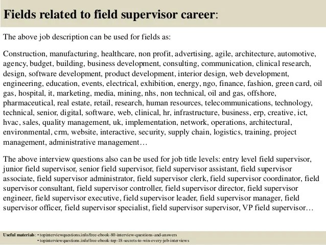 interview questions for supervisor position - Onwebioinnovate