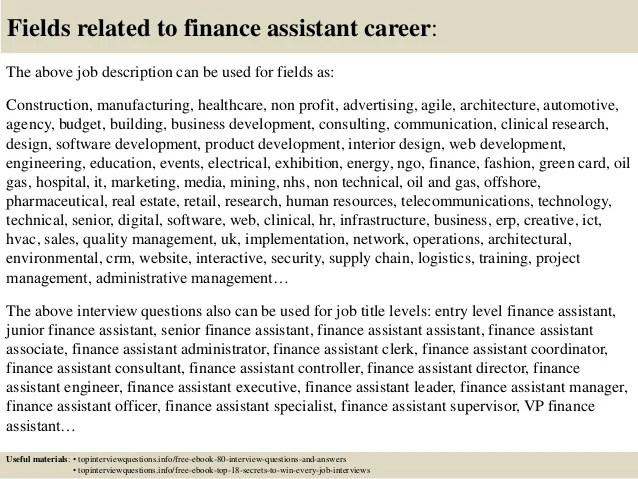 financial assistant job description - Maggilocustdesign - financial assistant job description