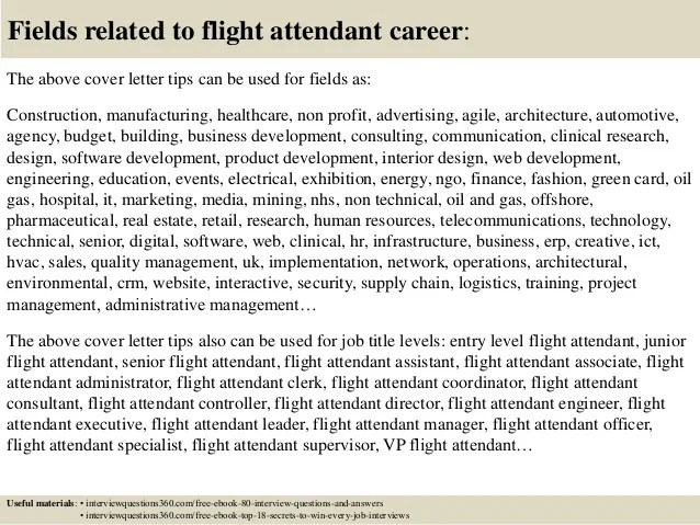 attendant cover letter tips saveenlarge flight