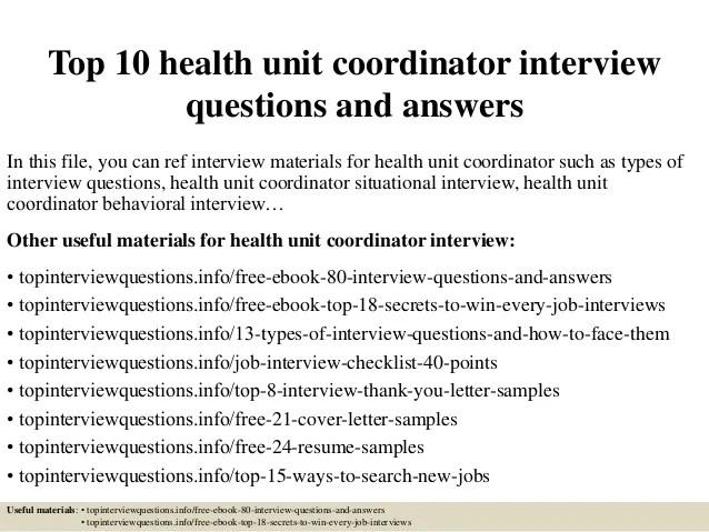 health unit coordinator resumes - Goalgoodwinmetals