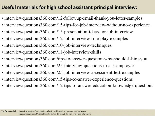 assistant principal interview tips