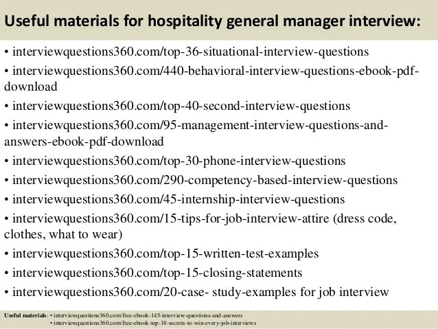 interview questions for hospitality - Ozilalmanoof