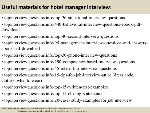 hospitality management interview questions and answers - Koran