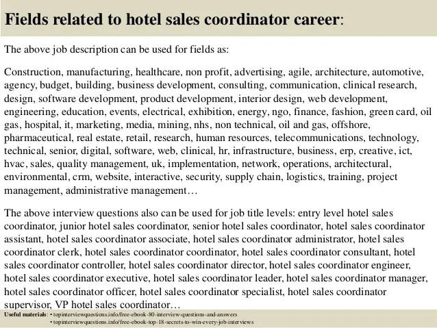 hotel sales coordinator job description - Artij-plus