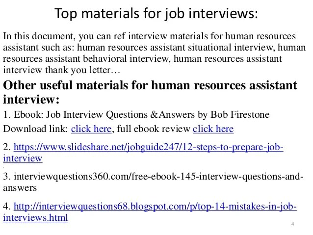 hr assistant interview questions and answers - Onwebioinnovate