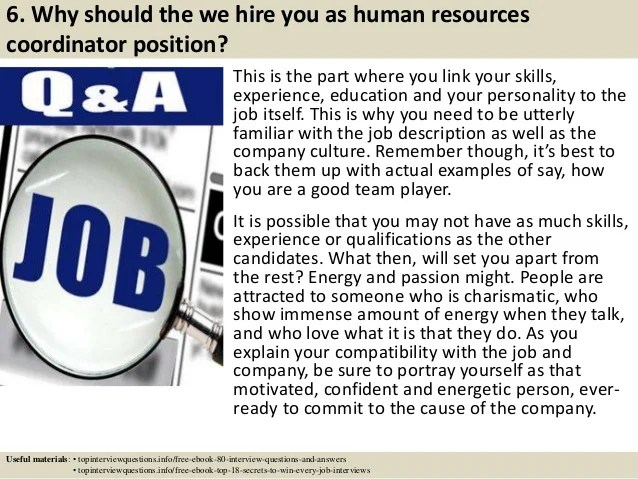 human resources manager interview questions and answers - Vatoz