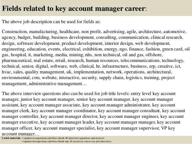 key account manager jobs - Goalgoodwinmetals - account manager job description