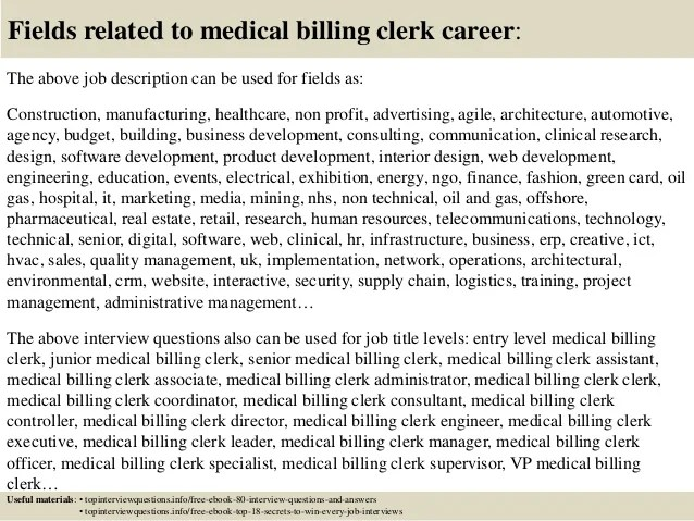 medical billing clerk job description - Onwebioinnovate - medical coding job description
