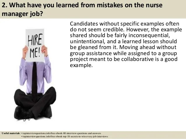 45 Nurse Manager Interview Questions To Ask masterlist