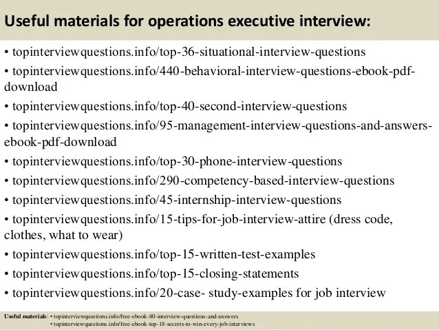 executive interview questions thevillas