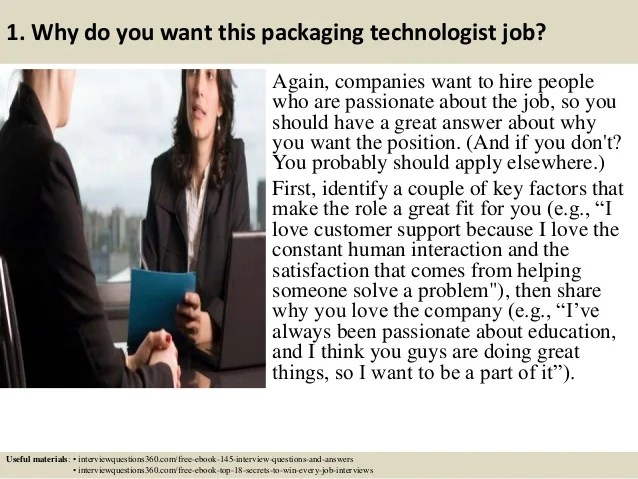Top 10 Packaging Technologist Interview Questions And Answers