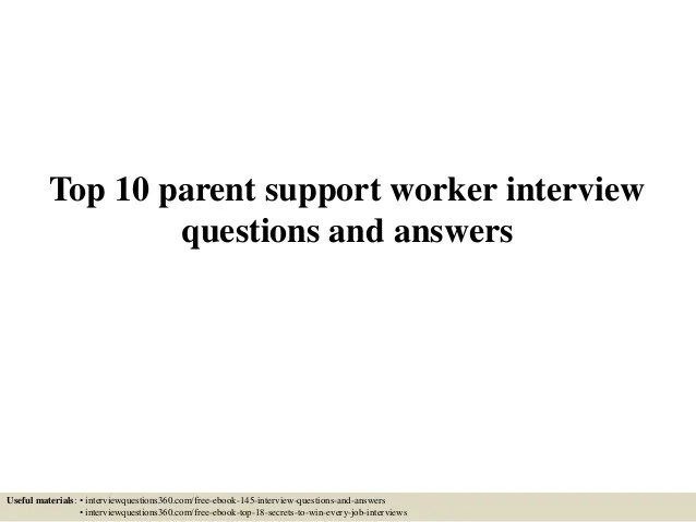 interview questions for support worker