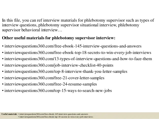 phlebotomy interview questions - Demireagdiffusion