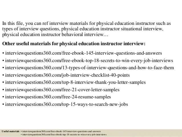 cover letter for physical education teacher - Minimfagency
