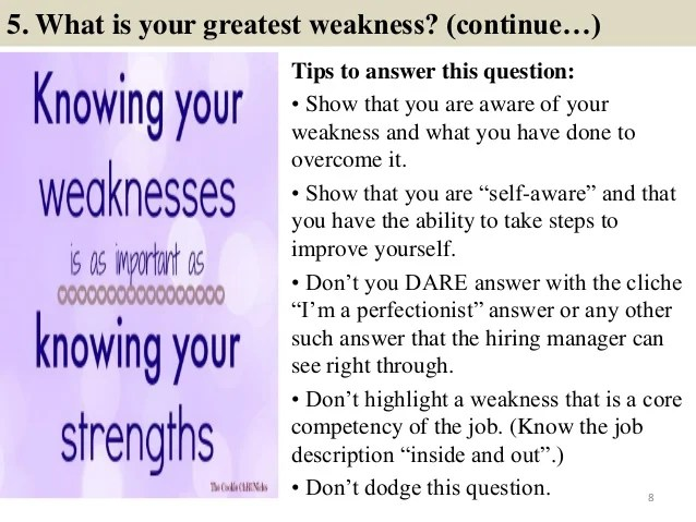 strengths and weaknesses answers - Vatozatozdevelopment