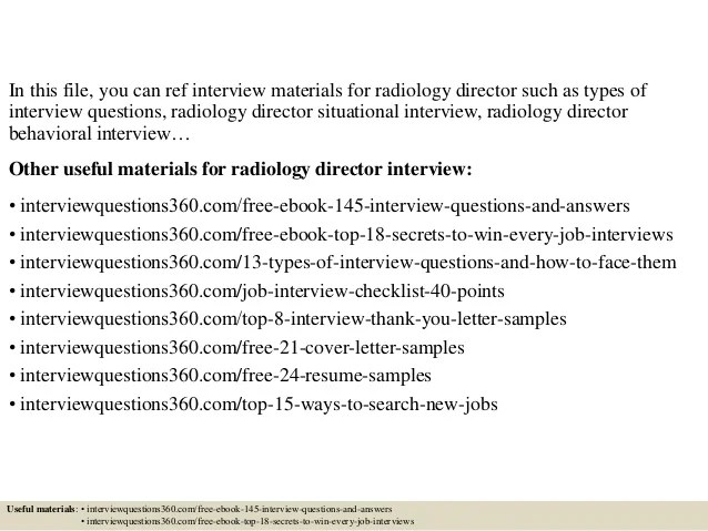 radiologist cover letter - Apmayssconstruction