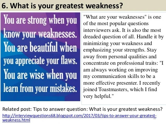 strengths and weaknesses for interviews - Josemulinohouse