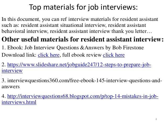 resident advisor interview questions - Josemulinohouse
