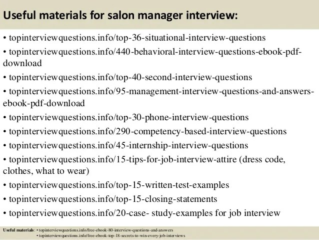 ... Top 8 Hair Salon Manager Resume Samples   Salon Resume ...