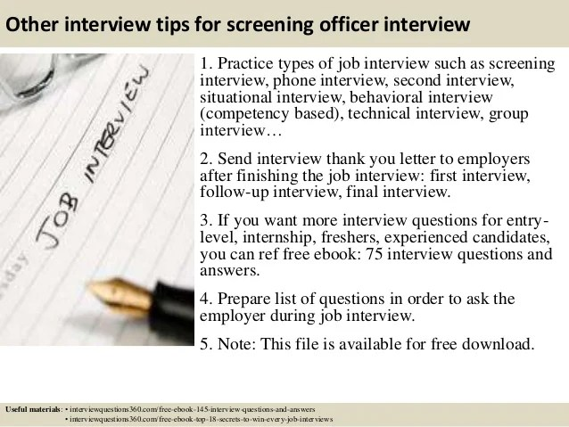 pre screen interview - Funfpandroid