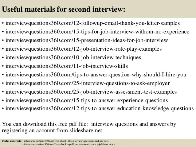 2nd job interview questions - Koranayodhya