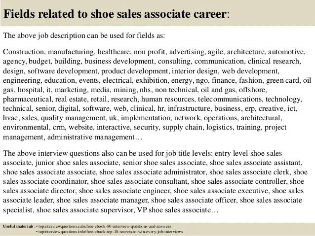shoe sales associate job description - Onwebioinnovate