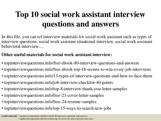 How To Write A Resume Summary That Grabs Attention Blue Top 10 Social Work Assistant Interview Questions And Answers
