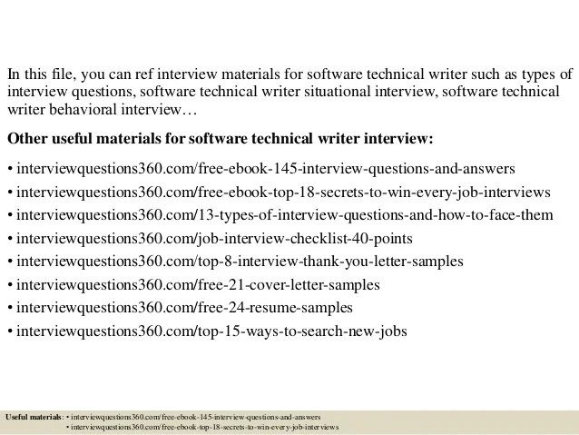 technical writer interview questions - Goalgoodwinmetals