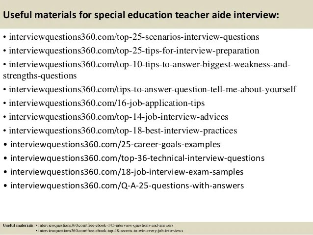 special ed teacher interview questions and answers - Goal - interview questions for teachers