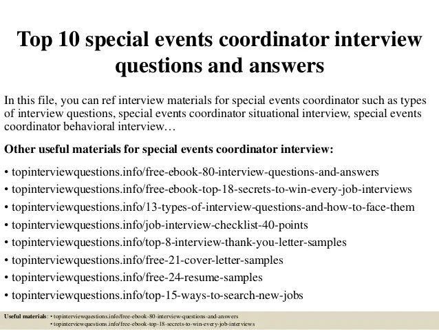 event planning interview questions - Alannoscrapleftbehind
