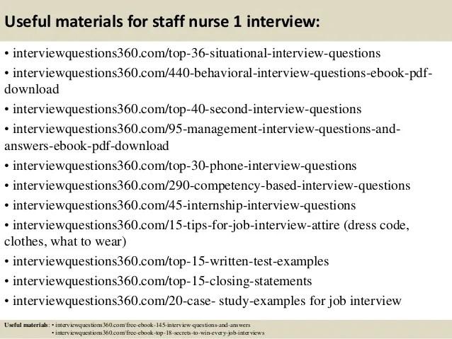 interview questions for staff nurse - Goalgoodwinmetals