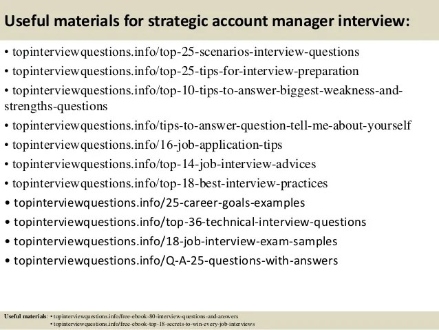 interview questions for account manager - Towerssconstruction