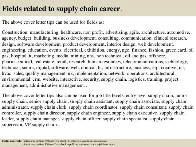 Get The Job With These Professional Cover Letter Templates Top 10 Supply Chain Cover Letter Tips