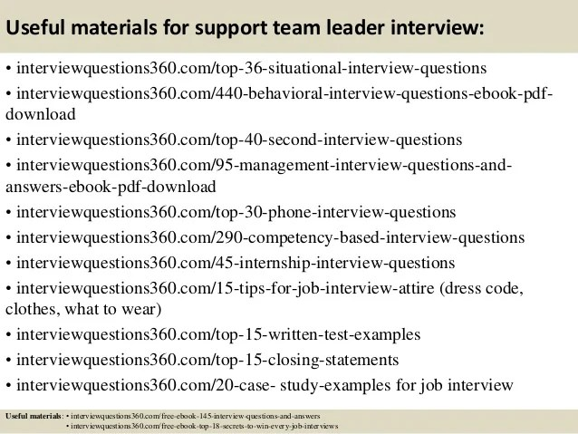 interview questions for a team leader - Acurlunamedia - questions for team leader interview
