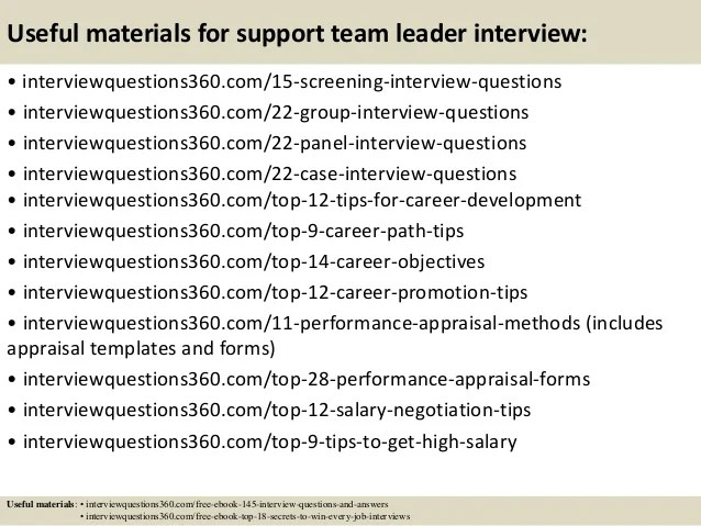 interview question for team leader - Josemulinohouse - Sample Interview Questions And Answers