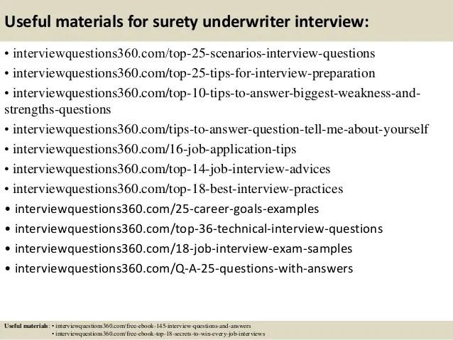 underwriter interview questions - Gurekubkireklamowe