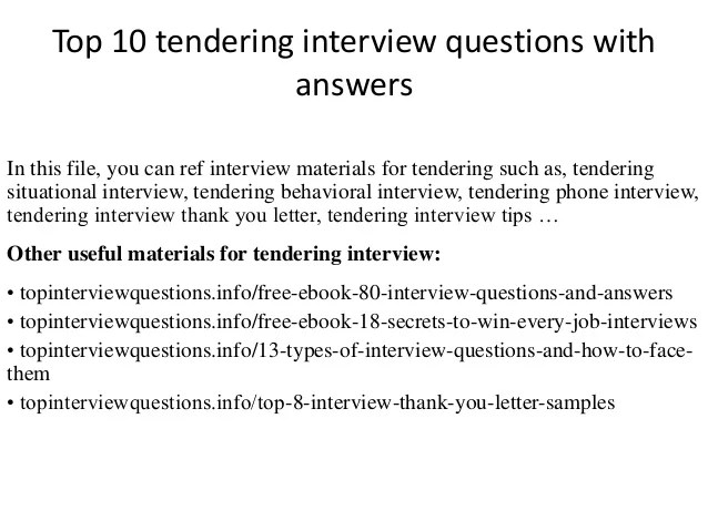 Human Resources Resume Tips To Get Hired Quickly Top 10 Tendering Interview Questions With Answers