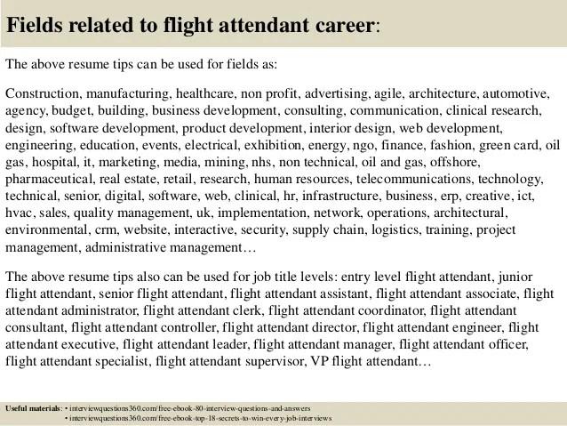 flight attendant resume tips - Vatozatozdevelopment
